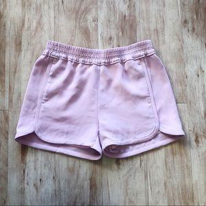 J. Crew Pink Crepe Pull-on Short